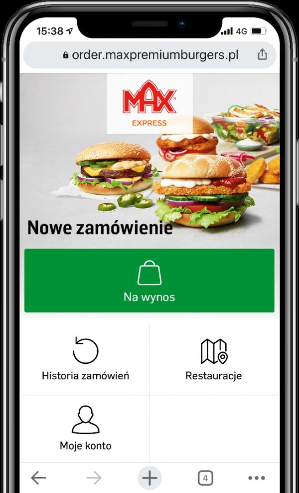 MAX app iPhone X Mockup interpolerad PL v2